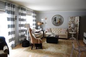 image of curtains for grey walls