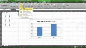 Graphing Means And Standard Deviations With Excel
