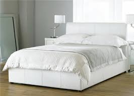 white faux leather bed. Interesting Leather Bali White Double Ottoman Faux Leather Bed Frame To L