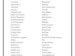 List Of Job Skills For Resume Radtourism Co