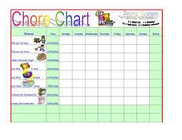 Customizable Kids Chore Chart Template Templates 21784 Resume
