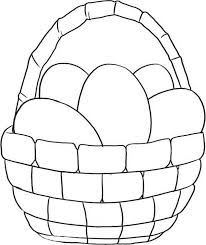 Small Picture Simple Picture of Easter Basket Coloring Page Batch Coloring