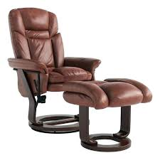 leather recliner with ottoman copper grove glider rocker chair leat