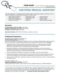 Medical Assistant Resume Skills Examples Certified Medical assistant Resume aurelianmg 1