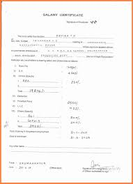 Salary Certificate Form Printable Checklist Template Account
