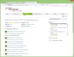 adventureworks sample database released for sql server sqlserver2014 adventureworks2014 sample dbs