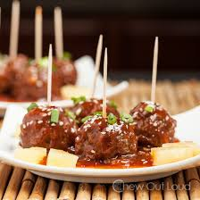 Hawaiian Luau Meatballs (Crock-pot) - Chew Out Loud