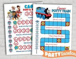 Potty Training Chart Shown In Paw Patrol Thomas The Train