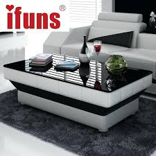 white leather coffee table new design special coffee table tea for living room furniture leather glass