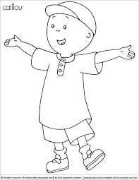 Small Picture Caillou Coloring Picture