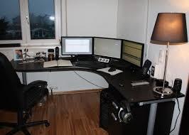 long l shaped computer desk