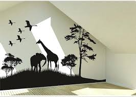 safari animal wall decor wall art decals safari animals wall decal giraffe and elephant vinyl wall