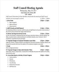 Staff Meeting Agenda Stunning 44 Meeting Agenda Templates Free Premium Templates