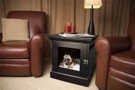 designer dog bed furniture. View In Gallery Stylish Dog Bed And Crate Built Into A Small Table Designer Furniture