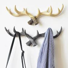 Antler Hook Coat Rack Extraordinary 32 Retro Antler Hook Frame Home Decoration Wall Cap Coat Hook Coat