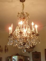 french antique crystal chandelier attributed to baccarat