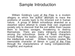 lord of the flies character analysis ppt video online  7 sample introduction william golding s lord of the flies
