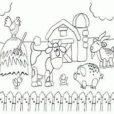 Coloring Pages Farm Animals Coloringes Printable Colouring