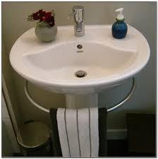 pedestal sink towel bar. Porcher Pedestal Sink With Towel Bar And