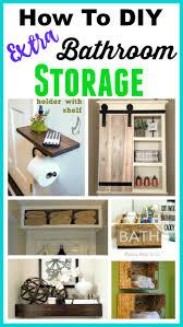 Space-Saving DIY Bathroom Storage Ideas