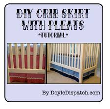 Crib Skirt Pattern Adorable MakeIt Mondays Crib Skirts How Do You Do It