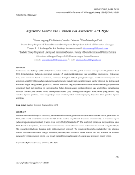 Pdf Reference Source And Citation For Research Apa Style
