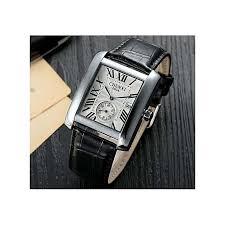 chenxi cx 063a classic design rectangular male watches luxury brand leather watch man calendar quartz