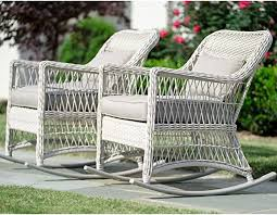 Leisure Made Pearson <b>Outdoor Rocking Chairs</b>, Antique White - <b>2</b> ...