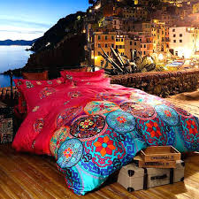 boho quilt sets bohemian queen set quilts luxury bedding king size bedclothes