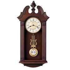 walnut ridgedale chiming wall clock c4437