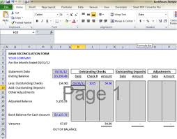 Check Reconciliation Template Bank Reconciliation Template 5 Easy Steps To Balance Your Accounts