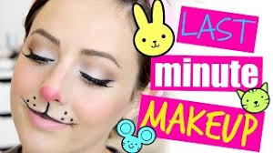 last minute bunny mouse makeup