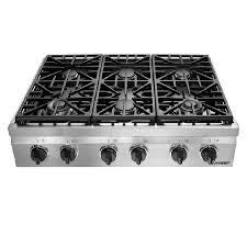 dacor distinctive 6burner gas cooktop stainless steel common 36 6 burner gas range l55