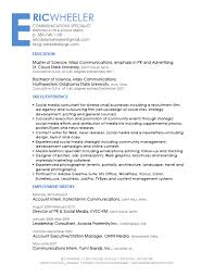 Social Media Sample Resume Awesome Collection Of Sample Resume Media Specialist With Additional 21