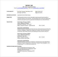 CCNA Network Engineer Resume Free PDF Download