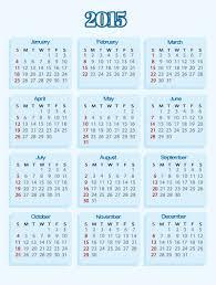 Simple 2015 Calendar Blue Simple Calendar 2015 Vector Free Vector Graphic Download