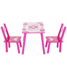 Image Cabinets Table Chair Set For Girlsflower Printed Pink Toddler Table For 15 Years Amazoncom Amazoncom Table Chair Set For Girlsflower Printed Pink Toddler