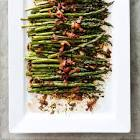 asparagus with bacon  red onion  and balsamic vinaigrette