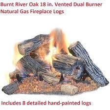 vented natural gas fireplace log set insert logs oak burner fire 18 in vent free with