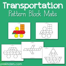 Pattern Block Template Interesting Pattern Block Mats PreKinders