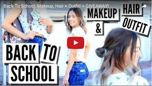 cool makeup ideas for back to makeup hair outfit giveaway