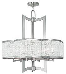 livex lighting 50576 91 6 light brushed nickel chandelier