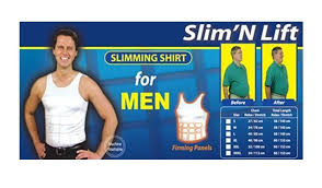 Slim N Lift Aire Size Chart Slim N Lift Slimming Vest Body Shaper For Men