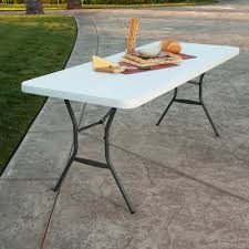 furniture gorgeous design of folding table foot with lifetime picnic brown ft 6ft kids