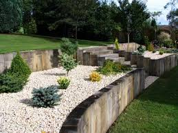 garden design with sleepers. daniel u0026 nicolau0027s landscaping with new oak railway sleepers garden design g