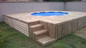 Build A Pallet Deck For Your Above Ground Pool The Homestead Survival