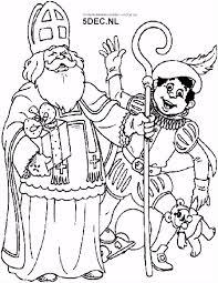 Kleurplaten Sinterklaas En Zwarte Piet Printen Sinterklaas Knutselen