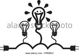 Bulbs Lights Ideas Icons Vector Illustration Design Stock Vector Art
