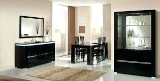 black lacquer dining room furniture lacquer furniture modern lacquer dining table set furniture in black features