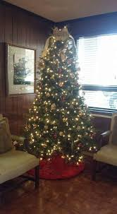 christmas decorating for the office. Golden Bow-Tie Christmas Tree Topper With Lighted For Decorating The Office